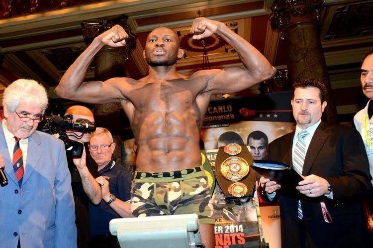 Osumanu Adama Photos from GolovkinAdama WeighIn in Monte Carlo The