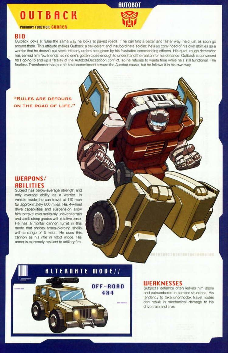 Outback (Transformers) Transformers Universe G1 Outback