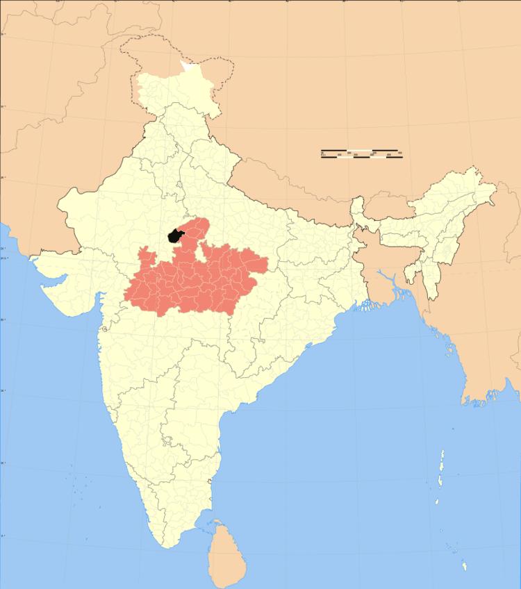 Location of Sheopur district in Madhya Pradesh