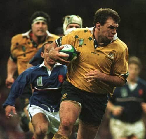 Owen Finegan Owen Finegan rumbles forward against France Rugby Union Photo