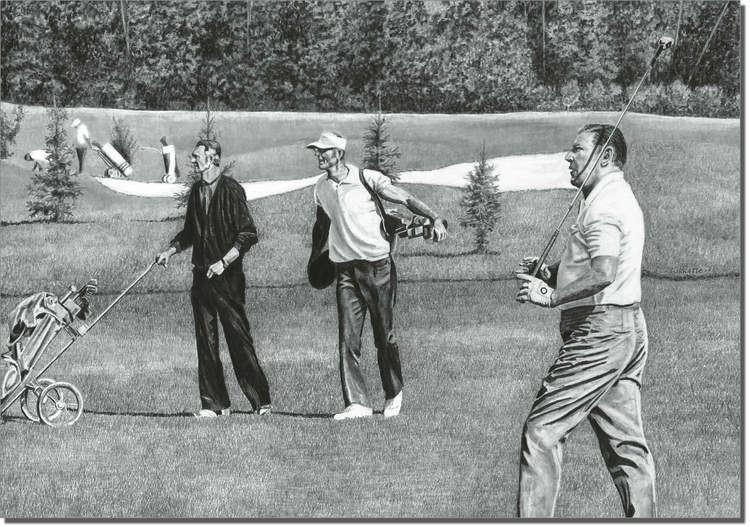 Owen Garratt Fore Golf Artwork Owen Garratt Pencil Artist