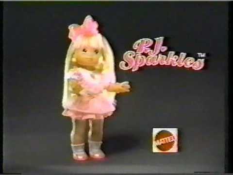 P. J. Sparkles Mattel PJ Sparkles Commercial 1988 YouTube