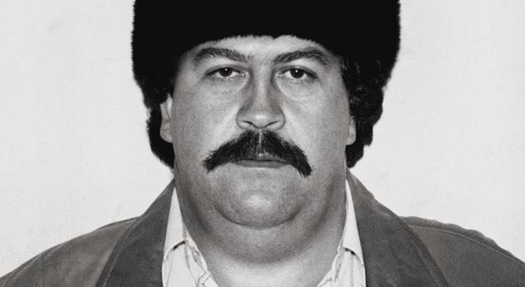 Pablo Emilio Escobar Gaviria with a mustache and thick hair.
