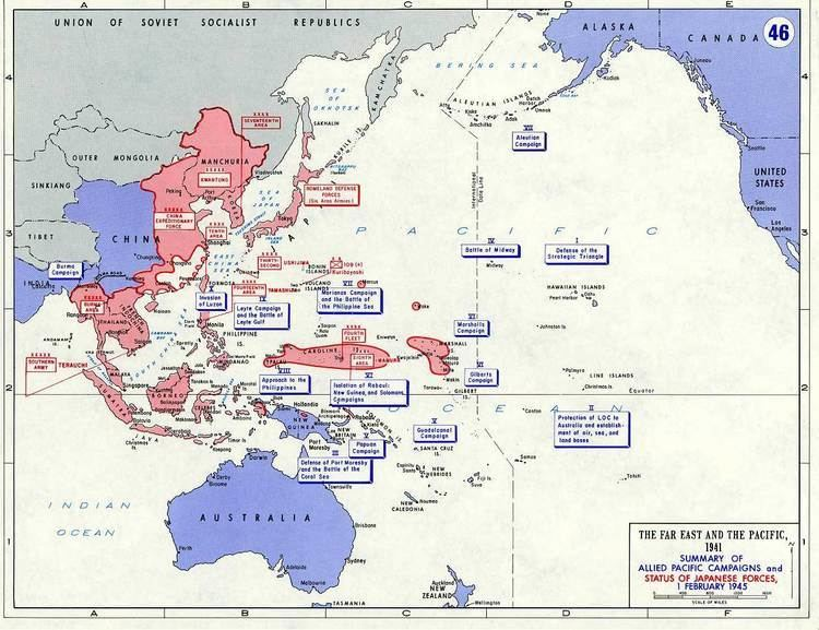 Pacific War Department of History WWII Asian Pacific Theater