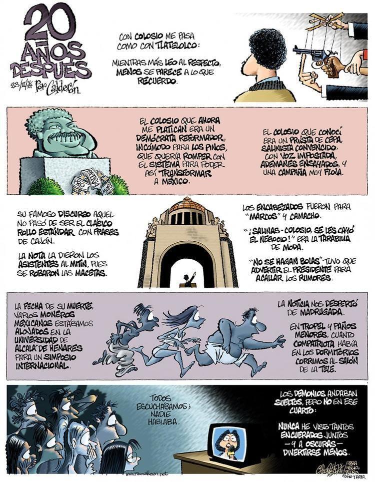 Paco Calderón Colosio 20 aos despus Tira cmica de Paco Caldern Proyecto Diez