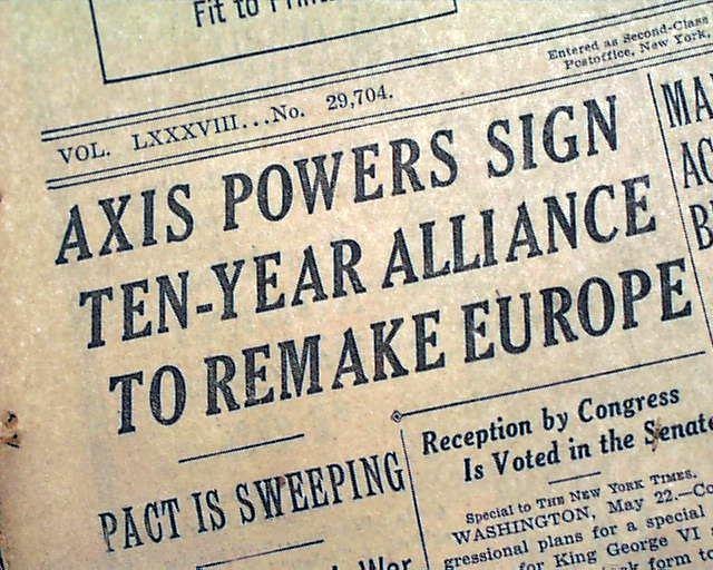 Pact of Steel Pact of Steel in 1939 RareNewspaperscom