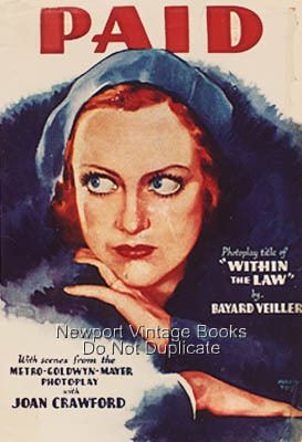 Paid (1930 film) Classic Movies Digest Paid 1930 Joan Goes to Jail