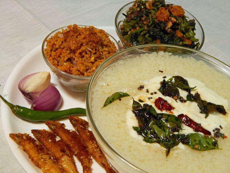 Pakhala Odiya Summer Dish Pakhala Saga Bhaja Badi Chura Macha Bhaja