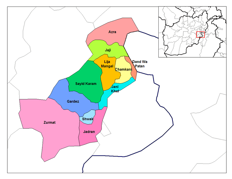 Paktia Province in the past, History of Paktia Province