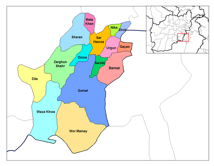 Paktika Province in the past, History of Paktika Province