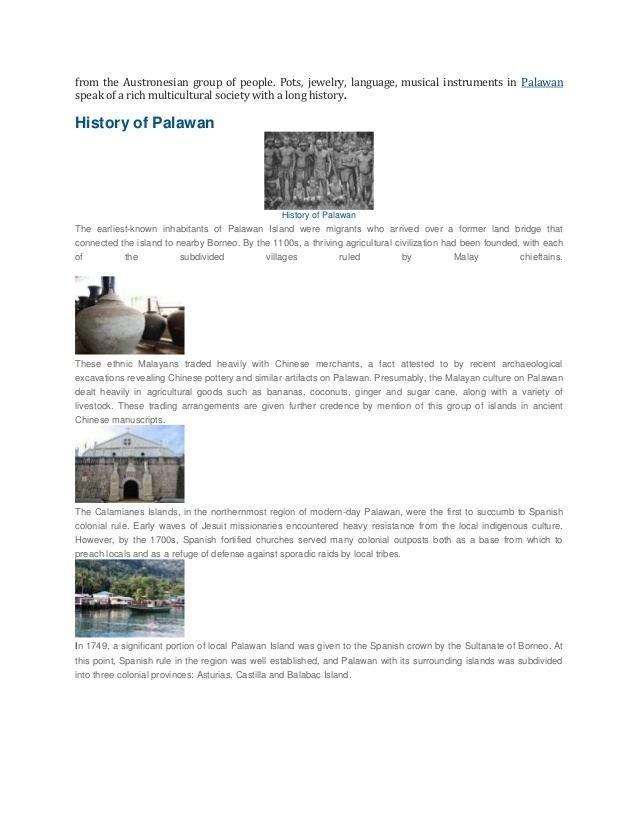 Palawan in the past, History of Palawan
