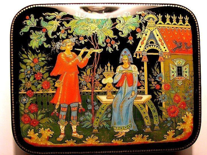 Palekh miniature 1000 images about Lacquer Miniature Palekh on Pinterest The two