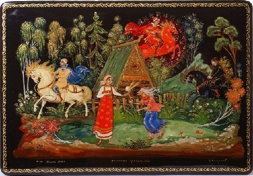 Palekh miniature Beauty will save Palekh miniatures Beauty will save