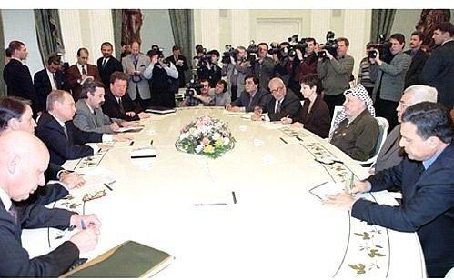 Palestinian National Authority President Vladimir Putin met with Palestinian National Authority