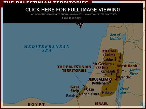 Palestinian territories Palestinian Territory population area capital cities