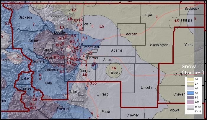 Palmer Divide IAP Colorado snow