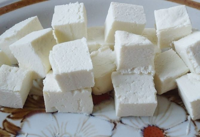 Paneer How to make paneer at home Homemade paneer cubes recipe