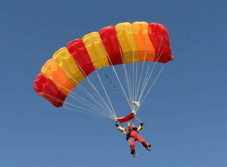 Parachute What39s the difference between a skydive and a parachute jump Red