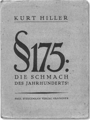 Paragraph 175 FileHiller tract against Paragraph 175jpg Wikimedia Commons