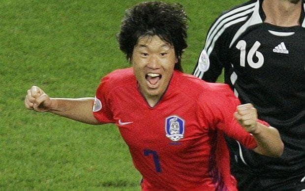 Park Ji-sung Park JiSung South Korea star player at World Cup 2010 in