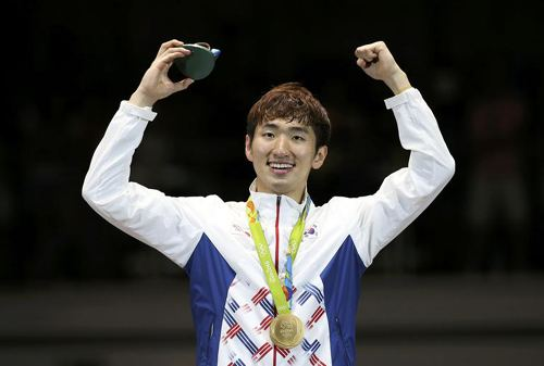 Park Sang-young Park Sang Young Takes Home the Gold for Fencing Koogle TV