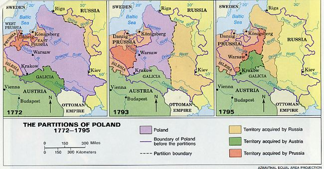 Partitions of Poland POLAND 1772 1795 Partitions MAPS Pinterest Polish and Poland