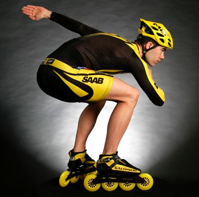 Pascal Briand Pascal Briand of France World Champion Inline Speed Skater