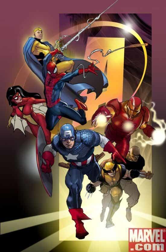 Pasqual Ferry Primeras pginas de Pasqual Ferry para New Avengers