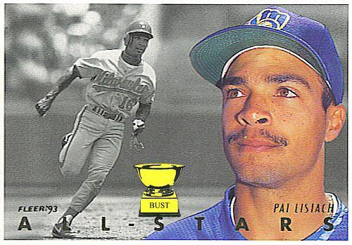 Pat Listach Baseball Card Bust Pat Listach 1993 Fleer AllStars