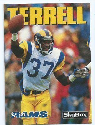 Pat Terrell LOS ANGELES RAMS Pat Terrell 28 SKYBOX Impact 1992 NFL American