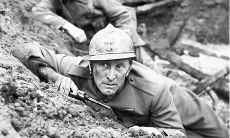 Paths of Glory movie scenes Kirk Douglas in Paths of Glory the 1957 film about the first world war by Stanley Kubrick PR