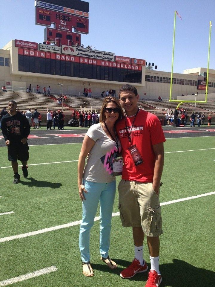 Patrick Mahomes Patrick Mahomes and Mom at Texas Tech Spring Game Patrick