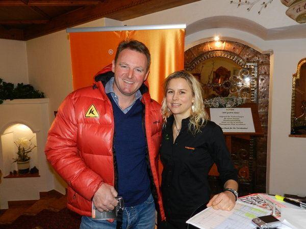 Patrick Ortlieb Olympiasieger Patrick Ortlieb und Thekla Kitzbhel