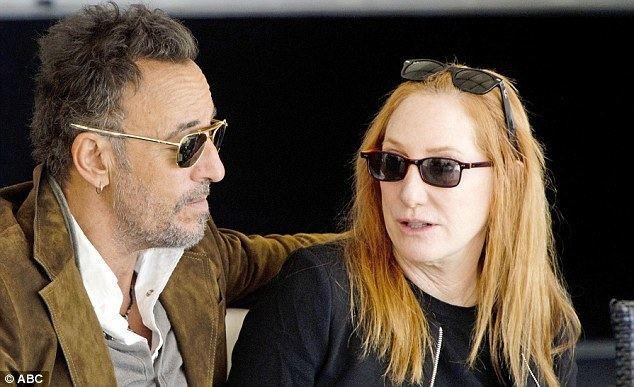 Patti Scialfa Bruce Springsteen and wife Patti Scialfa watch daughter