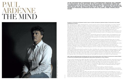 Paul Ardenne THE MIND Le blog de Paul Ardenne