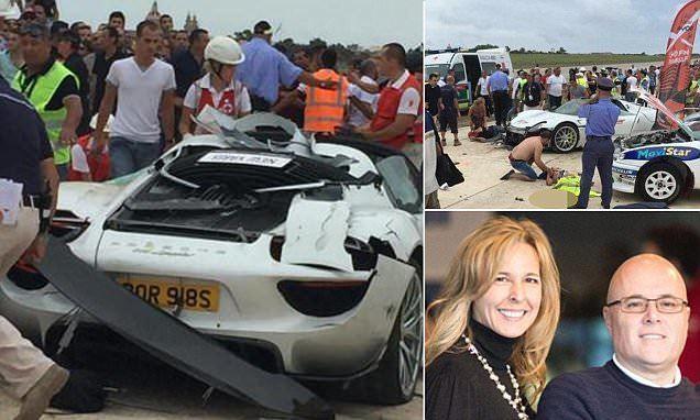 Paul Bailey Paul Bailey crashes 750k Porsche Spyder supercar into