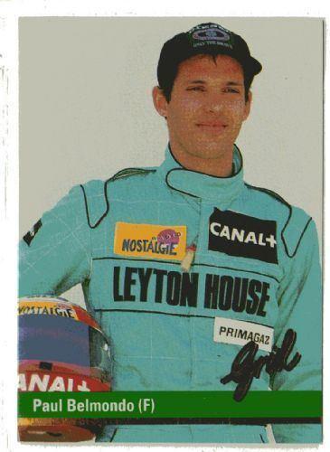 Paul Belmondo Paul Belmondo France 50 GRID 1992 Formula 1 F1 Racing Card