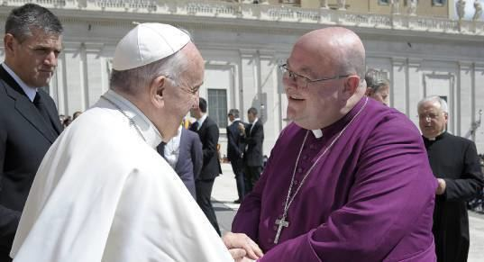 Paul Colton Bishop of Cork Dr Paul Colton meets Pope Francis