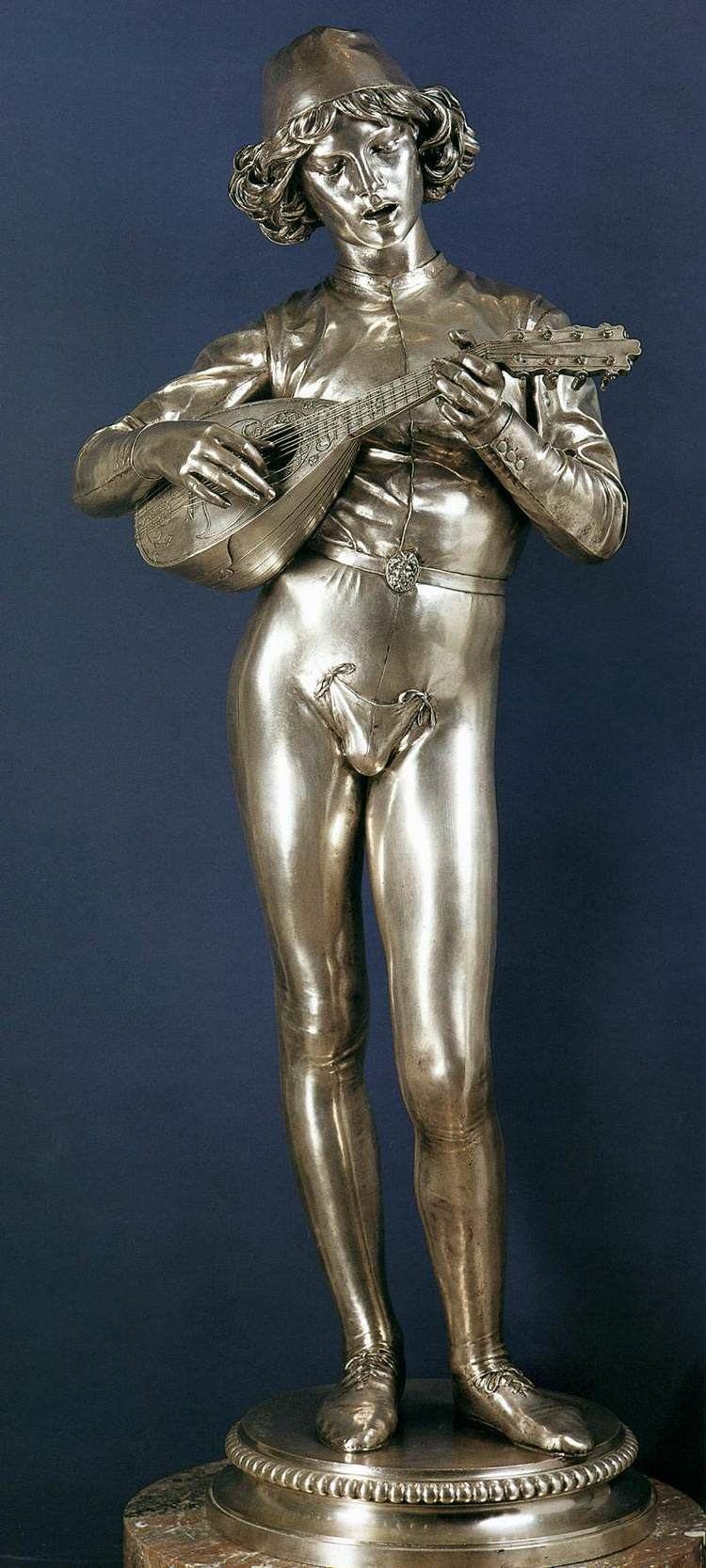 Paul Dubois (sculptor) Florentine Singer by DUBOIS Paul