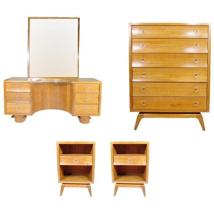 Paul Frankl Paul Frankl Four Piece Bedroom Set for Brown Saltman For
