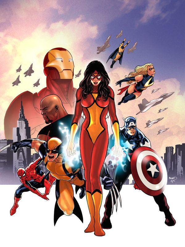 Paul Renaud Avengers variant cover by PaulRenaud on DeviantArt