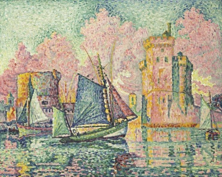 Image result for giclee painting: signac's tuna boat entering the port of la rochelle,
