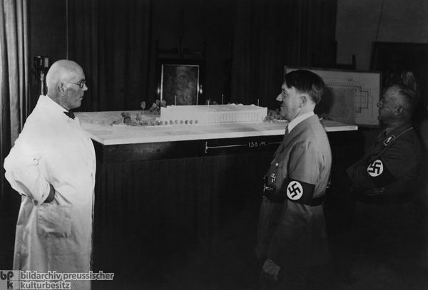 Paul Troost The Architect Paul Ludwig Troost with Hitler and Gauleiter