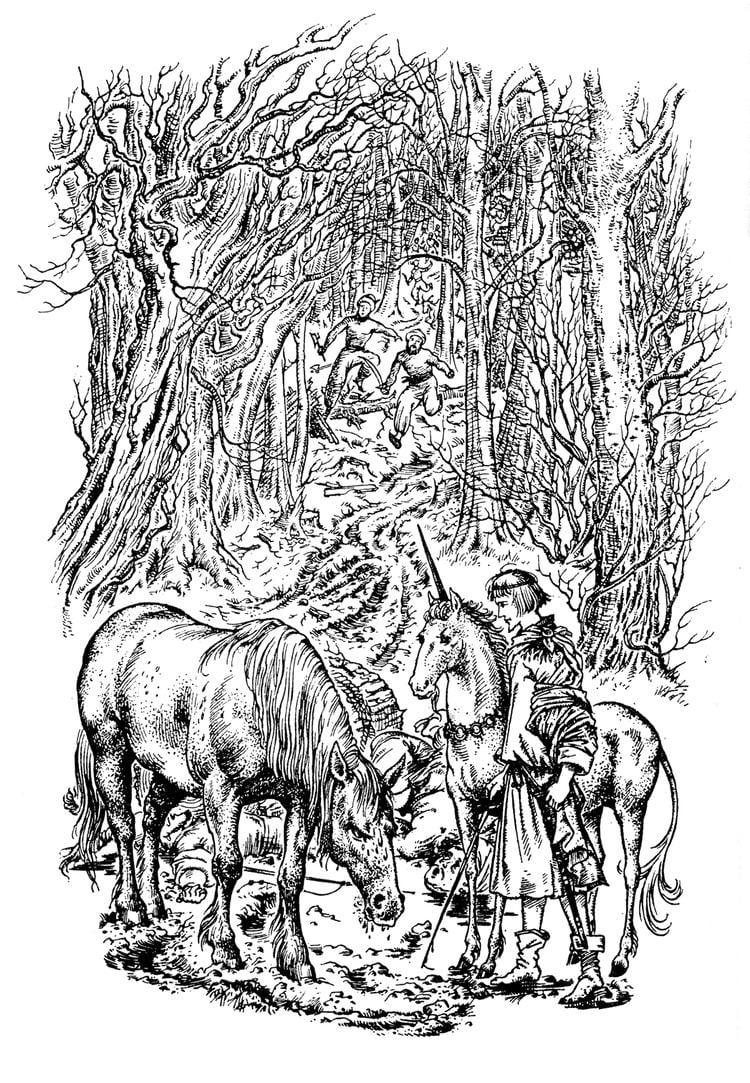 Pauline Baynes Ink Snow Pauline Baynes The Art of Narnia