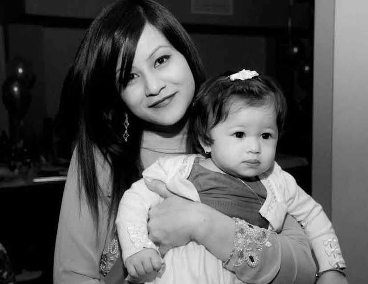 Payal Shakya Payal Shakya with her daughter Nepal Dispatch