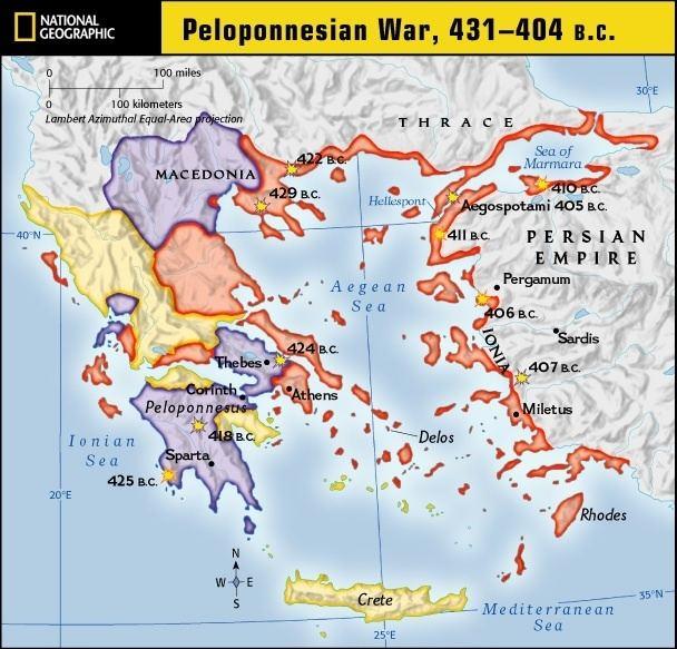 Peloponnesian War Peloponnesian War Sparta amp Corinth Align Against Athens Orrin
