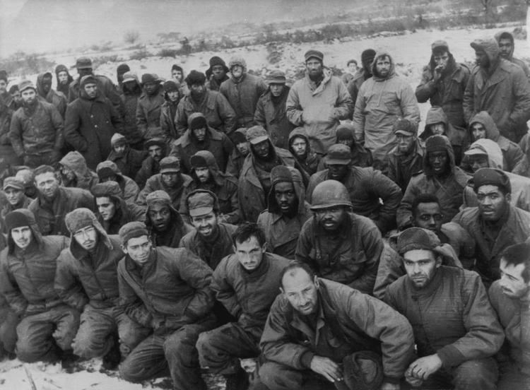 People's Volunteer Army A group of American POWs taken by the Chinese People39s Volunteer