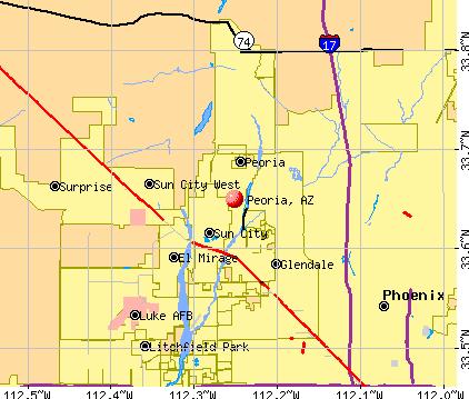 Peoria, Arizona Peoria Arizona AZ profile population maps real estate
