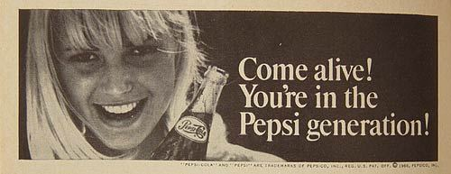 Pepsi Generation The Pepsi Generation What ever you say demonic fairhaire