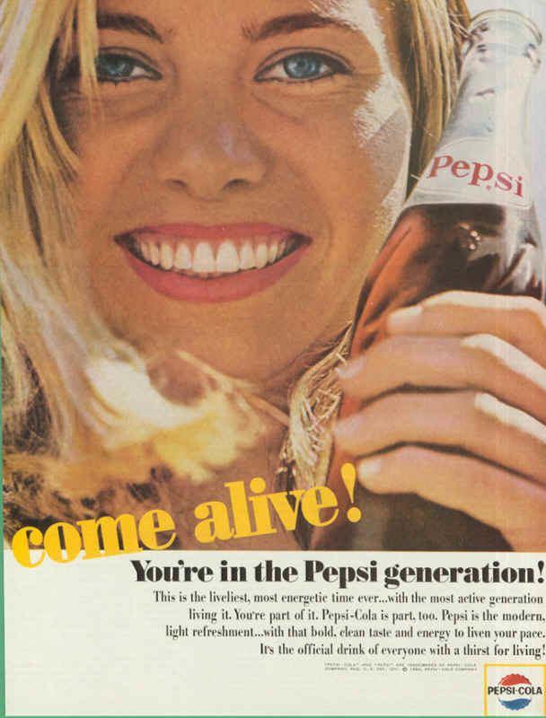 Pepsi Generation are in the Pepsi generation 1964